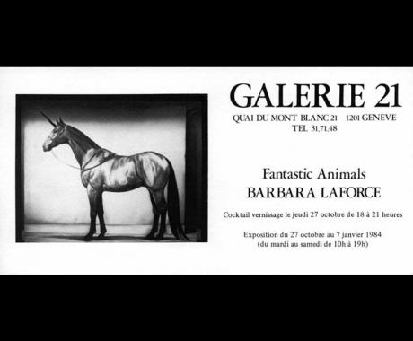 Fantastic Animals – Galerie 21 – Geneva, 1984